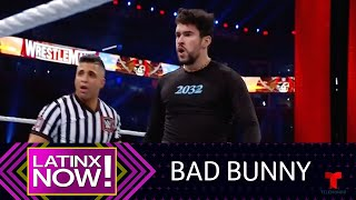 Bad Bunny surprises at WrestleMania and tour announcement | Latinx Now! | Telemundo English