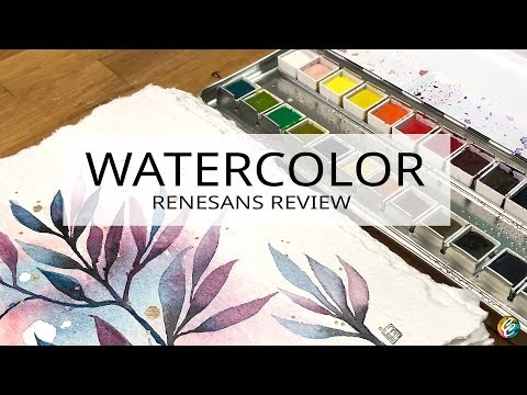 swatching and painting with Renesans watercolors