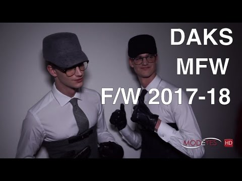 DAKS | FALL WINTER 2017-2018 | BACKSTAGE + INTERVIEW + FASHION SHOW | EXCLUSIVE