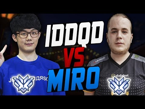 IDDQD SF SHOCK VS MIRO SEOUL DYNASTY! WHO'S BEST? [ OVERWATCH SEASON 8 TOP 500 ]
