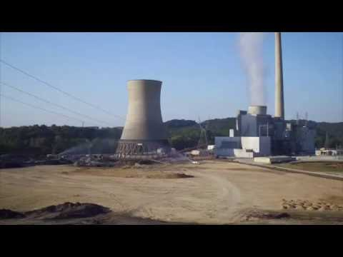 Big Sandy Cooling Tower demolition