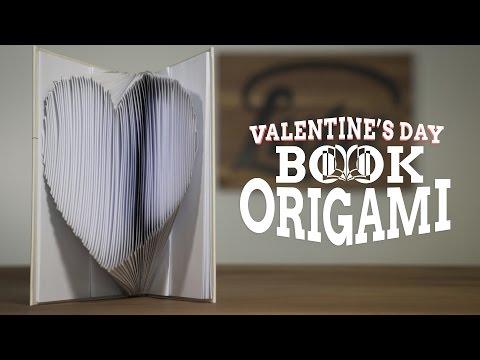 Valentine's Day Book Origami