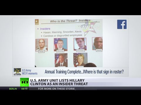 Threat from within? US Army unit lists Clinton in same category as whistleblowers
