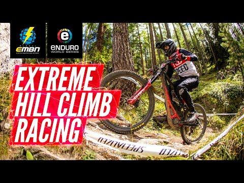 How Hard Is An EWS-E Power Stage? | Extreme E Bike Hill Climb Racing