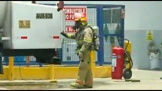 Fuga de gas fue reportada en camión cisterna este mediodía en el Callao