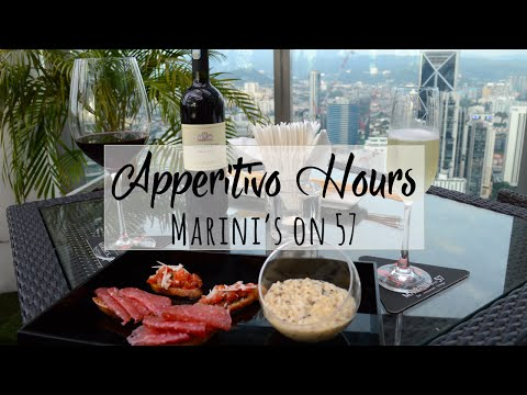 Marini's on 57 Apperitivo Hours - Best Happy Hour in Kuala Lumpur with View of Petronas Towers