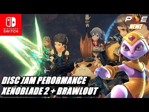 Nintendo Switch - Xenoblade 2 + Brawlout Patch Details! UE4 Disc Jam Switch at 1080p/60fps!