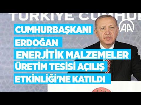 Cumhurbaşkanı Erdoğan Enerjitik Malzemeler Üretim Tesisi Açılış Etkinliği'ne katılıyor