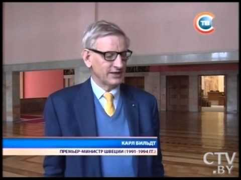 Carl Bildt med ECFR i Minsk