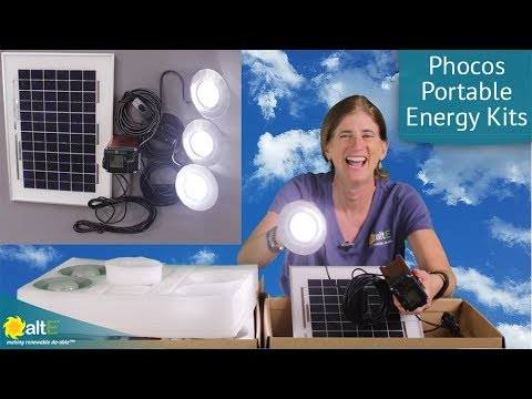 We review the Phocos Portable Energy Kits. They are a simple plug and play solution that provides lighting and charging capabilities for your phones and tablets. The kits include solar panel(s), an MPPT charge controller, a battery, and various lights. The