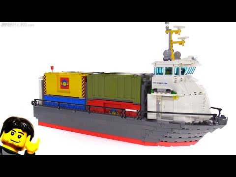 connectYoutube - Custom LEGO Container Ship MOC rebuild / hull transplant!