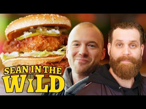 Harley Morenstein and Sean Evans Review Fast-Food Mashups   Sean in the Wild