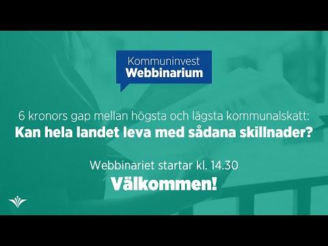Webbinarium: 6 kronors gap mellan högsta och lägsta kommunalskatt – Kan hela landet leva med det?