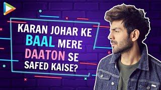 Kartik Aaryan on Dostana 2 & Bhool Bhulaiyaa 2 | Link-Up rumours with Janhvi | Karan Johar - HUNGAMA