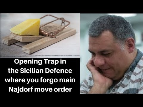 Opening Chess Trap: A trap in the Sicilian Defence : forgo main Najdorf move order (Part 2 of 2)