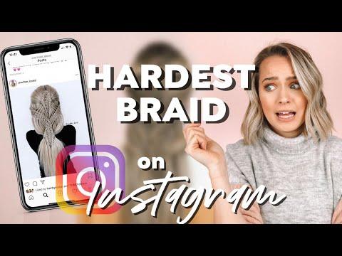 I tried the HARDEST BRAID on Instagram - Kayley Melissa
