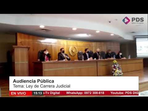 Audiencia Pública-  Ley de Carrera Judicial- Jueza María Celeste Jara Talavera