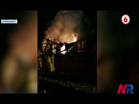 Fuego consumió vivienda en Curridabat