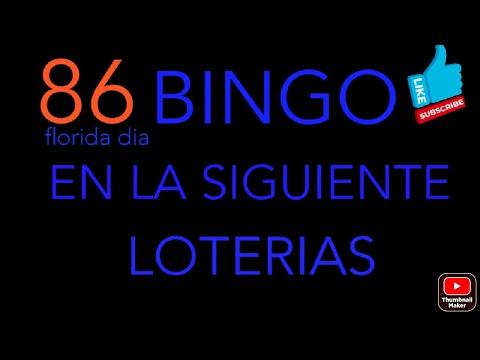NUMEROS PARA HOY(86) Bingo en la florida