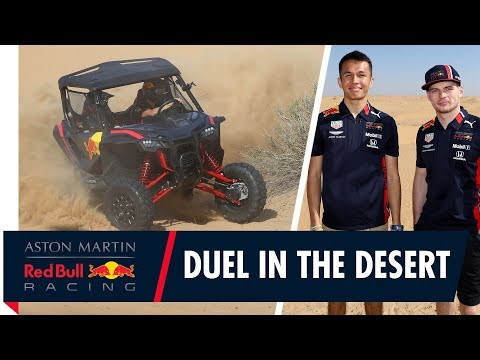 One last blast for 2019! | Max Verstappen and Alex Albon duel in the desert.