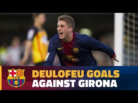 A young Gerard Deulofeu's goals against Girona