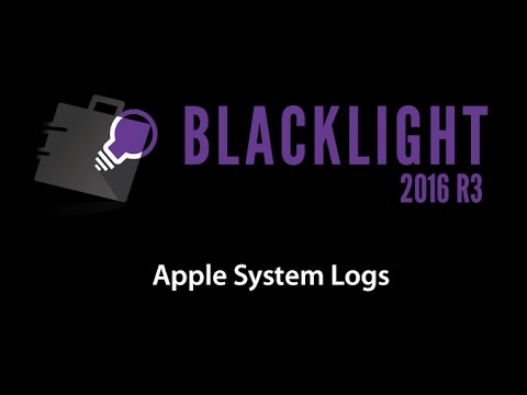 Sneak Peek: BlackLight 2016 R3 - Apple System Logs