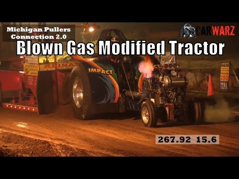 Blown Gas Modified Tractor Class At TTPA Tractor Pulls In Mayville MI 2018