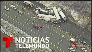 Accidente múltiple en autopista de Pensilvania deja 5 muertos y 60 heridas   Noticias Telemundo