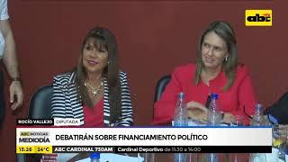 Debatirán sobre financiamiento político