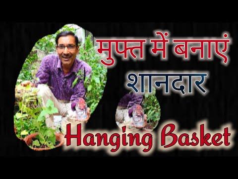 मुफ्त में बनाएं Hanging Basket Vine / Hanging Basket from Sweet Potato