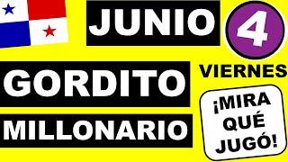 Resultados Sorteo Loteria Viernes 4 de Junio 2021 Loteria NacionalPanama Gordito Millonario Que Jugo