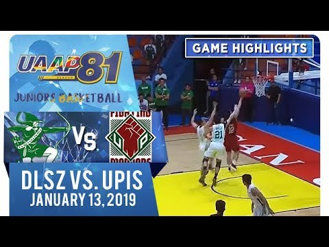 UAAP 81 Junior's Basketball - Round 2: DLSZ vs. UPIS | Game Highlights | January 13, 2019