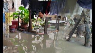 Familias sufren por inundación de sus viviendas en Cochabamba