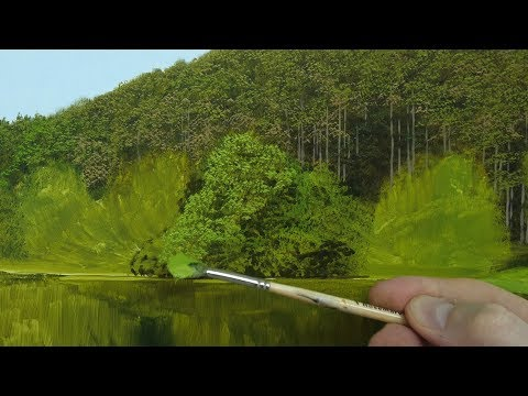 How to paint realistic trees in three easy steps | Oil painting tutorial