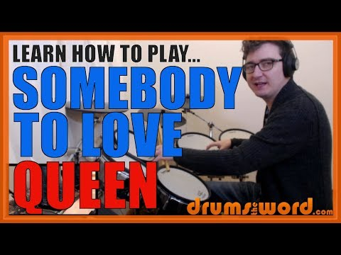 ★ Somebody To Love (Queen) ★ Drum Lesson PREVIEW | How To Play Song (Roger Taylor)