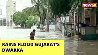 Rains flood Gujarat's Dwarka | NewsX - NEWSXLIVE