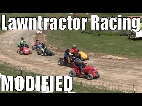 Modified Class Lawntractor Racing At Western Ontario Outlaws July 7 2019 - Round 2