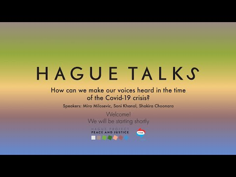 HagueTalks online event: How can we make our voices heard in the time of Covid-19 crisis? photo