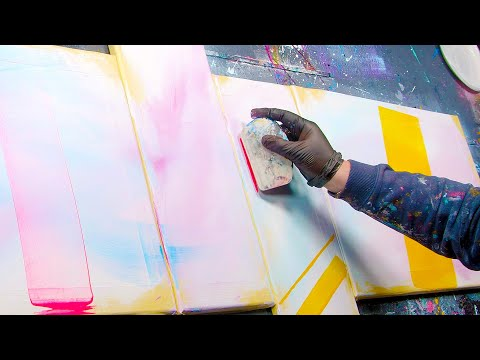 HOW TO create a COLORFUL Abstract Painting? | Sextilis