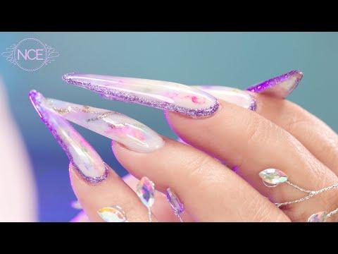 Next Level Glitter Border Nail Art