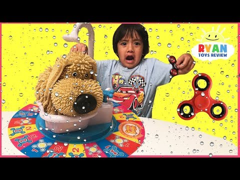 SOGGY DOGGY TOY CHALLENGE Family Fun Game for Kids! Surprise Fidget Spinner toys for Winner