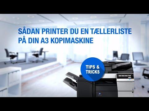 Sådan printer du en tællerliste på din A3 kopimaskine