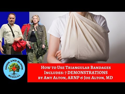 How to Use Triangular Bandages: with 7 Demonstrations by Nurse Amy