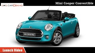 Mini Cooper S Convertible | Launch Video | CarDekho.com