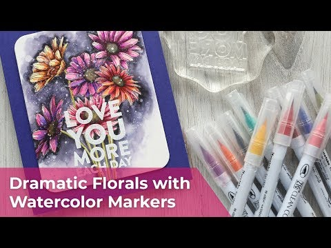 Dramatic Florals with Watercolor Markers - Zig Clean Color Real Brush