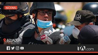 Alexis Mera llegó a la cárcel de Latacunga tras más de seis horas -Teleamazonas