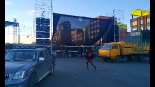Arman palco en media avenida, alteños reflejan su molestia ante la nueva autoridad edil
