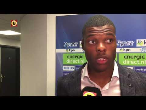 Denzel Dumfries was blij na zijn eerste goal voor PSV