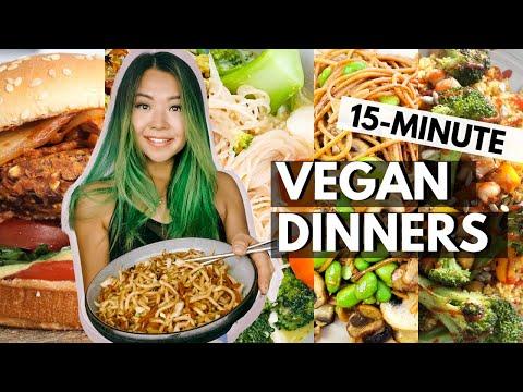 WEEK OF VEGAN WEEKNIGHT DINNERS (15 MINUTE BUDGET FRIENDLY VEGAN RECIPES!)
