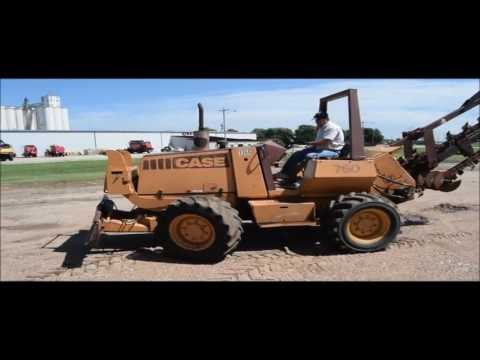 1992 Case 760 trencher for sale | no-reserve Internet auction September 29, 2016